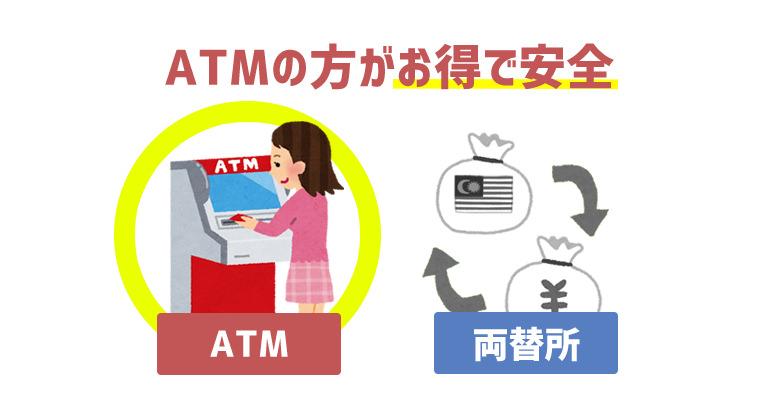 ATMの方がお得で安全